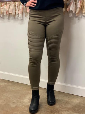 Original Moto Jeggings - Olive
