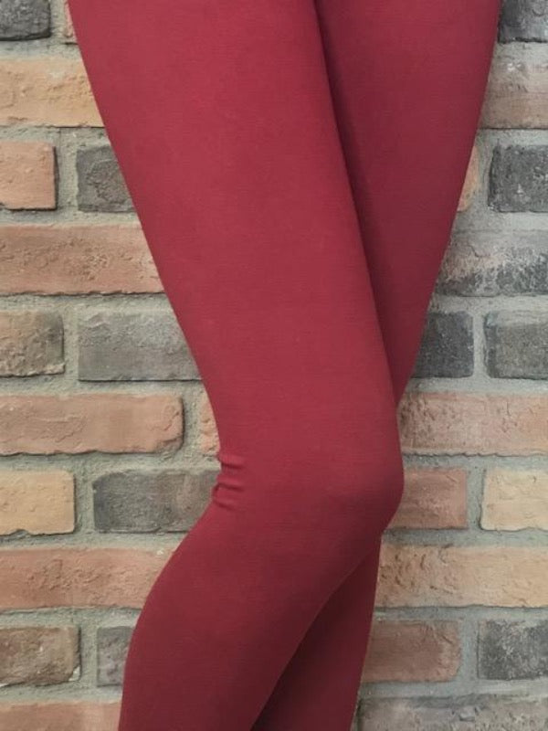 Burgundy Signature Soft Leggings