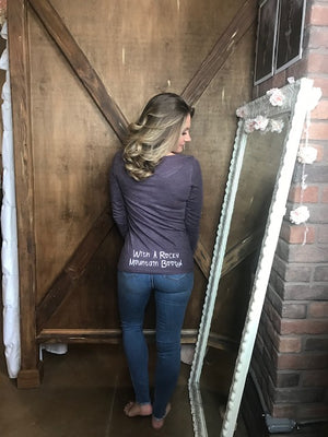 Colorado Cutie with a Rocky Mountain Booty Long Sleeve - Vintage Purple
