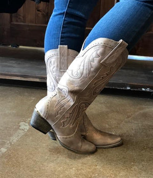 Blaze Champagne Cowgirl Boots