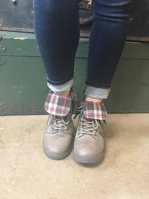 Juniper Plaid Booties