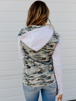 Don't Blend In Light Camo Half-Zip Hoodie