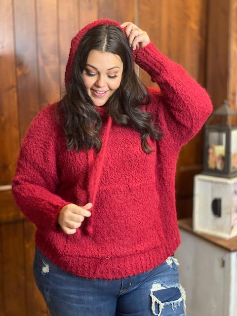 Camilla Cozy Sweater in Red