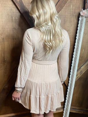 Aspen Sweater Knit Dress in Sand
