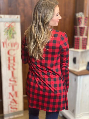 Natalia Buffalo Plaid Cardigan