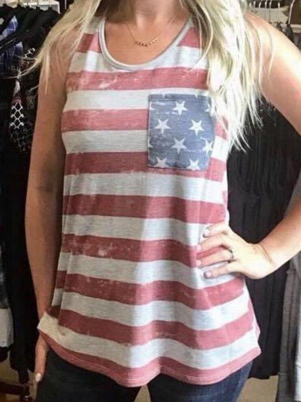 Freedom Tank Top with Bow