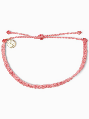 Pura Vida Bracelet - Mini Braided - Pink