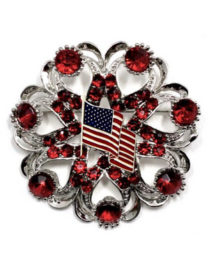 American Flag Brooch