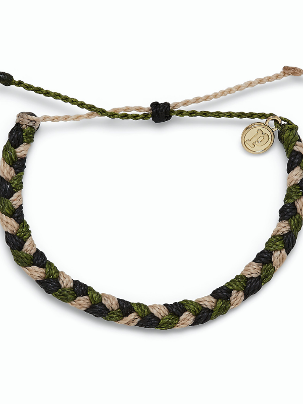 Pura Vida - Braided Bracelet - Camo For Our Troops