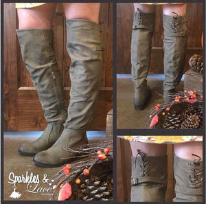 Telluride Taupe Knee High Boots