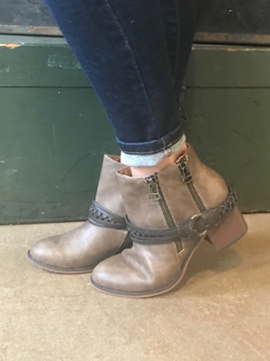 Kyle Ankle Booties with Braid