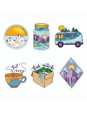 Pura Vida Adventure Sticker Pack