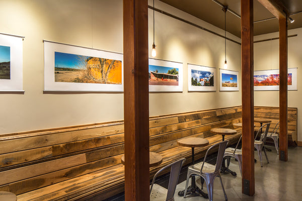 Peter Malinowski Vanishing Landscape exhibition at Handlebar Coffee Roasters in Santa Barbara, CA