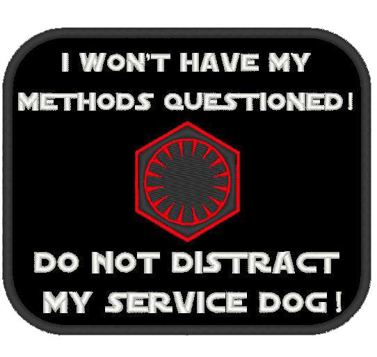 I won't have my methods questioned - Do not distract / Service Dog