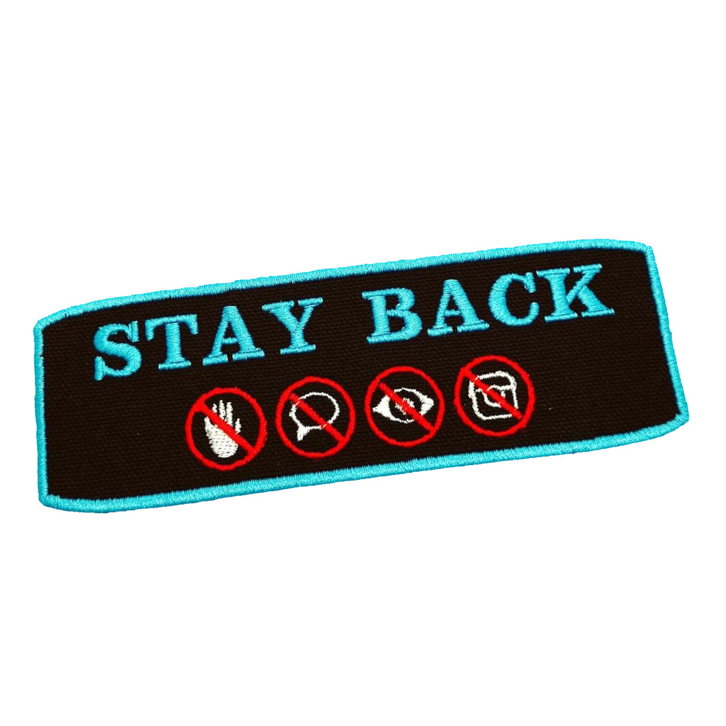 STAY BACK Patch / Service Dog