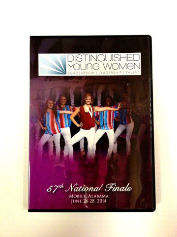 Distinguished Young Women 57th National Finals DVD 2014 / Clearance