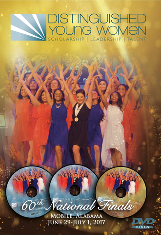 60th Anniversary Distinguished Young Women National Finals DVD Set - 2017 / Clearance