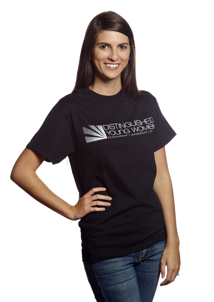 Distinguished Young Women Black T-Shirt