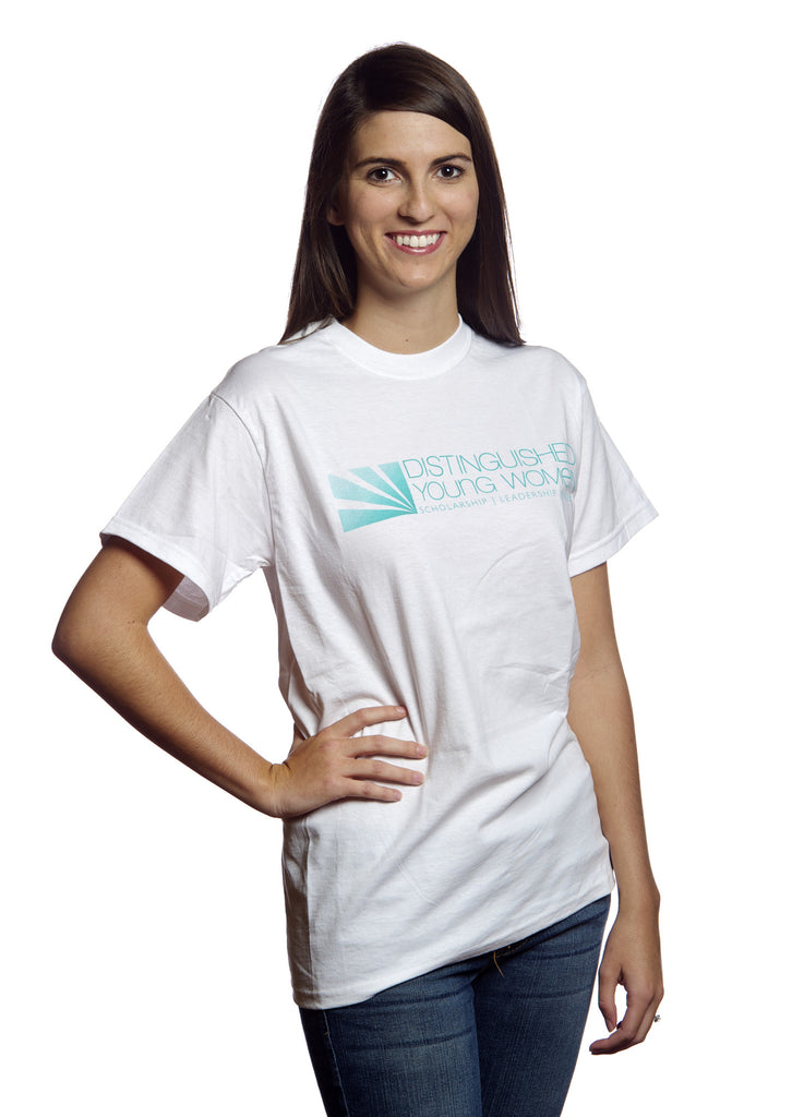Distinguished Young Women White T-Shirt