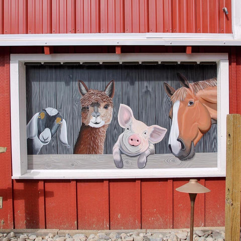 Window mural at Four Seasons Campground in Pilesgrove, NJ