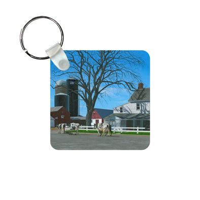 Caught in a Country Moment Keychain