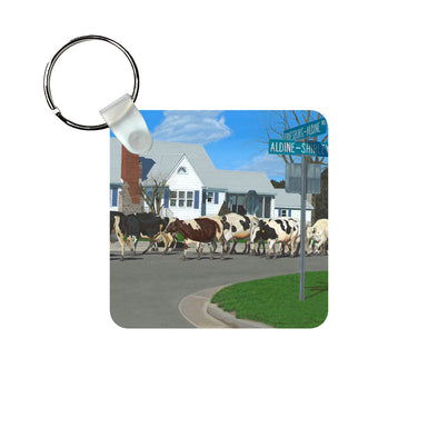 Caught in Another Country Moment Keychain