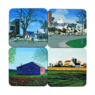 Coaster Set: Aldine Paintings