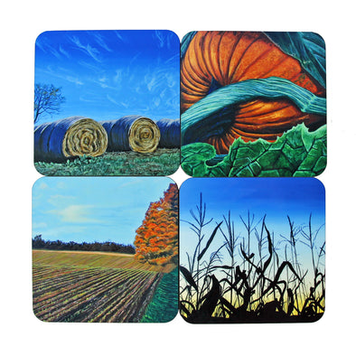 Coaster Set: Fall Paintings