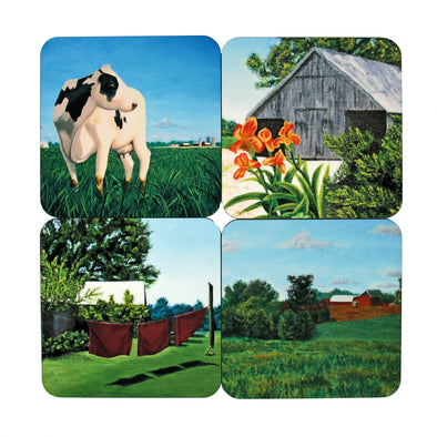 Coaster Set: Salem County Paintings