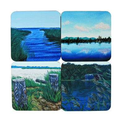 Coaster Set: Water Paintings