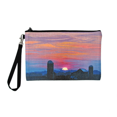 Distant Vista on Shirley Road Clutch Bag