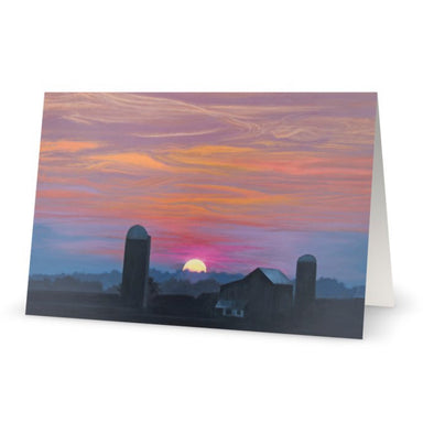 Distant Vista on Shirley Road Greeting Card