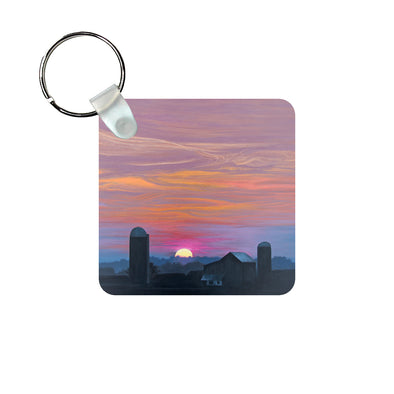 Distant Vista on Shirley Road Keychain