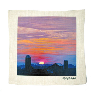 Distant Vista on Shirley Road Pillow Sham