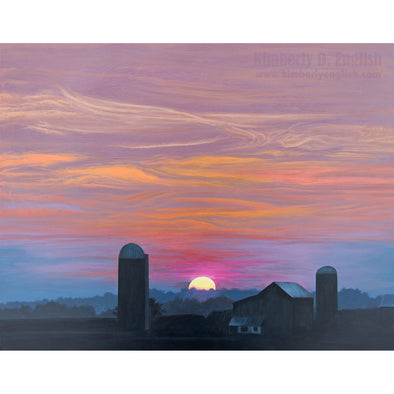 Distant Vista on Shirley Road Print