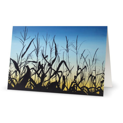 Sunset Corn Greeting Card