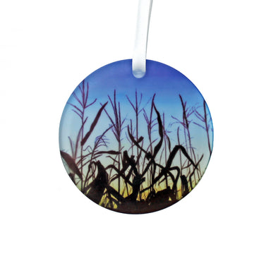 Sunset Corn Ornament