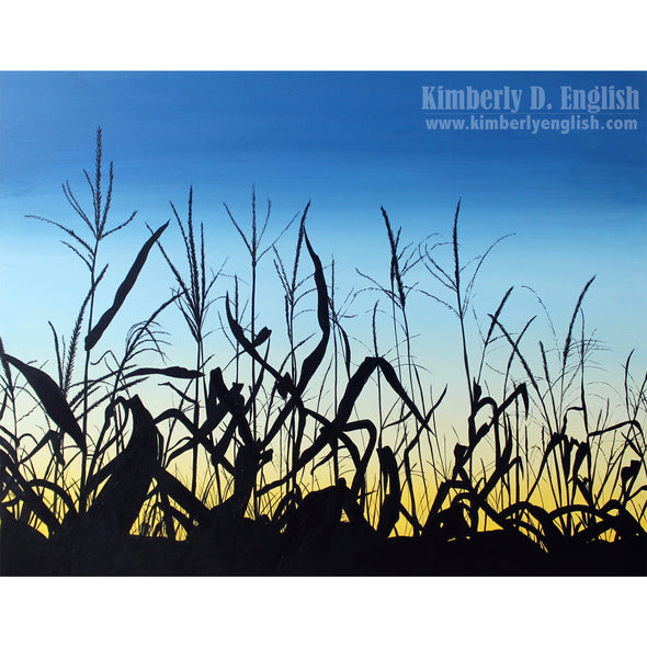 Sunset Corn Print