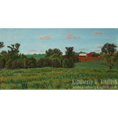 View from Woodstown-Daretown Road Print