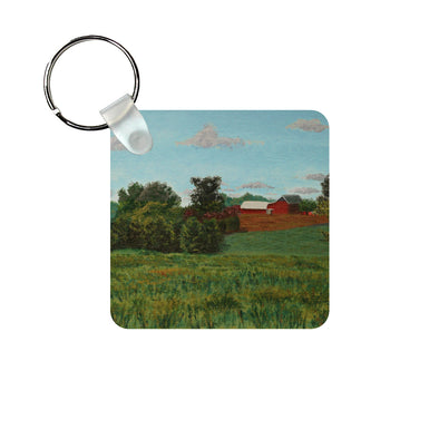 View from Woodstown-Daretown Road Keychain