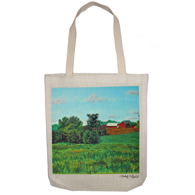 View from Woodstown-Daretown Road Tote Bag