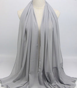 Hijab - Plain Light Gray