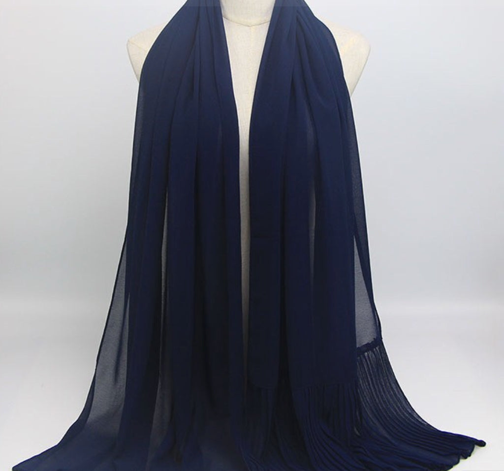 Hijab - Plain Dark Navy