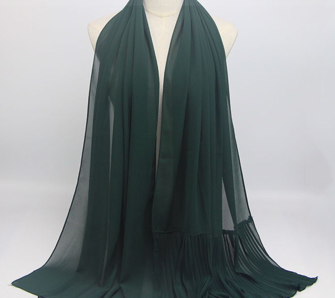 Hijab - Plain Royal Green
