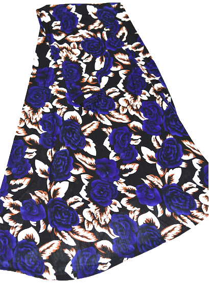Jilbab - Print Royal Blue