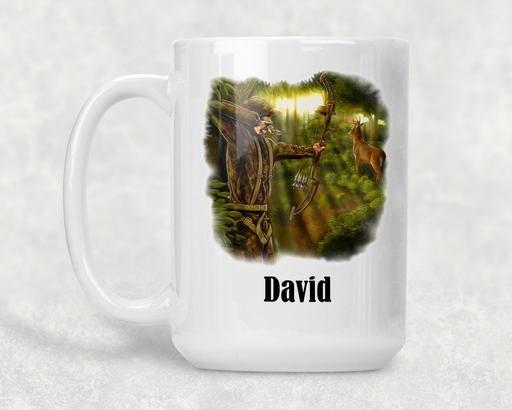 Deer Hunter Personalized or 15 ounce Ceramic Coffee Mug - Simply Custom Life