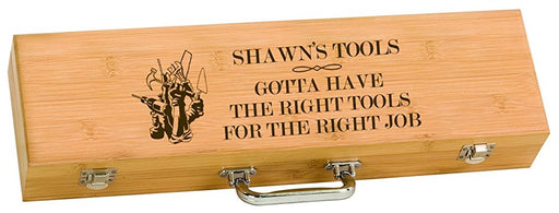 Construction Worker The Right Tools BBQ Grilling Tool Set Personalized Engraved - Simply Custom Life