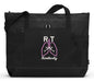 Respiratory Therapist Personalized Embroidered Tote with Mesh Pockets - Simply Custom Life