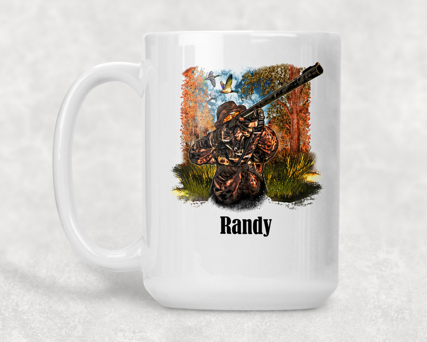 Duck Hunting Personalized 15 ounce Ceramic Coffee Mug - Simply Custom Life