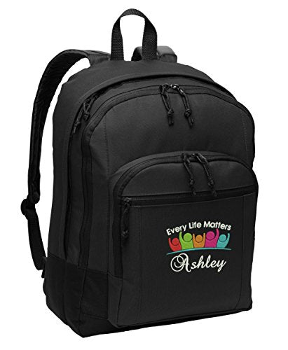 Every Life Matters Personalized Embroidered Backpack - Simply Custom Life
